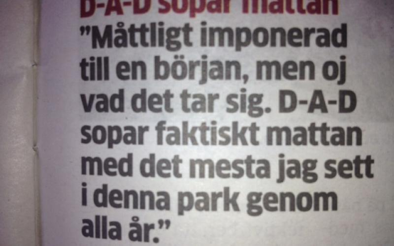 From Kristianstadsbladet. Provided by Axel Nilsson.